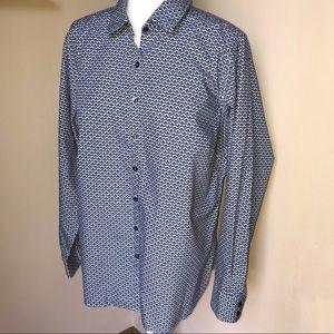 Landsend women's printed blouse Size:16